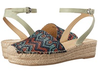 Franco Sarto Lariza Mint Tribal Weaved Fabric Women's Wedge Shoes Multi