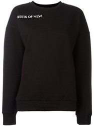 Each X Other Sleeve Lettering Sweatshirt Black