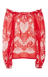 Alice Mccall My Sweet Lord Off The Shoulder Blouse Red