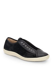 John Varvatos Hattan Suede And Leather Sneakers Black