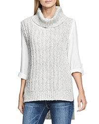 Vince Camuto Two By Chunky Sleeveless Sweater Light Heather Grey