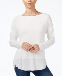 Sanctuary Dillon Beaded Top Winter White