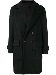 Tom Ford Double Breasted Coat Black