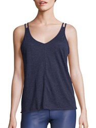Alo Yoga Mold Back Cutout Tank Rich Navy Heather