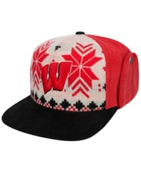 Top Of The World Wisconsin Badgers Christmas Sweater Strapback Cap