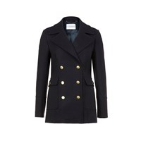 Calder Pea Coat In Navy Blue