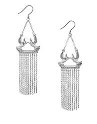 Lucky Brand Bird Drop Earrings Silver