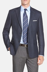 Nordstrom Classic Fit Solid Wool Blazer Blue