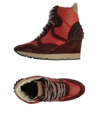 Voile Blanche High Tops And Trainers Brick Red