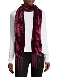 Bajra Velvet And Satin Scarf Navy Grey Black Magenta