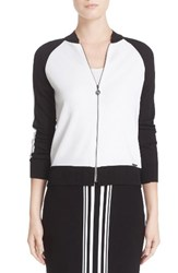 St. John Women's Collection Jersey Knit Bomber Jacket