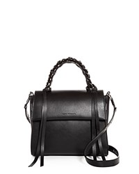 Elena Ghisellini Angel Sensua Small Leather Satchel Black