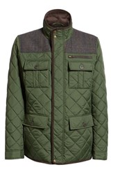 Vince Camuto Diamond Quilted Full Zip Jacket Olive