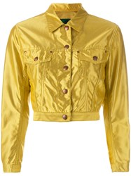 Jean Paul Gaultier Vintage Cropped Sheen Jacket Yellow Orange