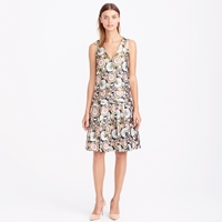 J.Crew Collection Gilded Floral Jacquard Dress