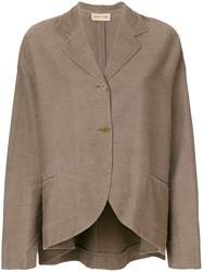 Romeo Gigli Vintage Long Sleeve Blazer Brown