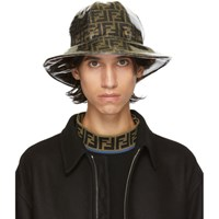 Tan And Brown 'Forever Fendi' Bucket Hat