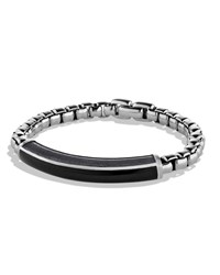 Exotic Stone Id Bracelet With Black Onyx David Yurman Silver