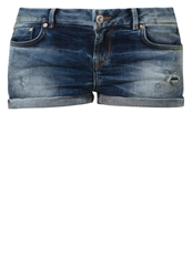 Ltb Judie Denim Shorts Petunias Wash Blue