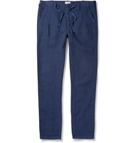 Hartford Linen Trousers Blue