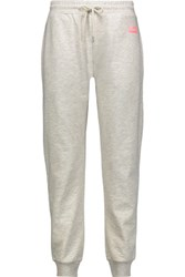 Mcq By Alexander Mcqueen Marled Cotton Jersey Track Pants Light Gray