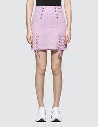 X Girl Lace Up Mini Skirt
