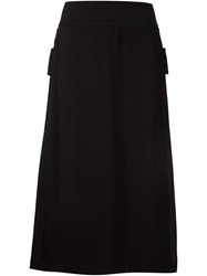 Adam By Adam Lippes Adam Lippes Side Pleat Detail Midi Skirt Black