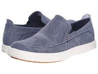 Hush Puppies Roadside Slip On Mt Navy Canvas Men's Slip On Shoes Blue