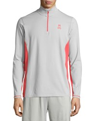 Psycho Bunny Quarter Zip Performance Jacket Mirage Gray