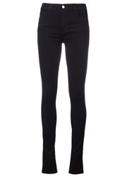 Gucci Butterfly Embroidered Skinny Jeans Black