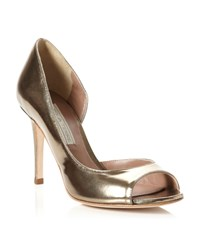 Pied A Terre Carland Peep Toe Court Shoes Pewter
