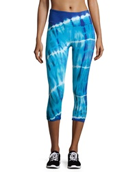 The Balance Collection Tie Dye Capri Leggings Royal Blue