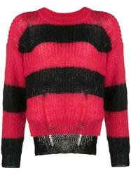Zadig And Voltaire Gaby Striped Sweater Red