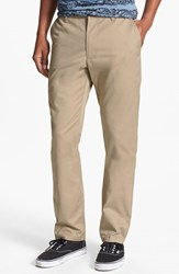 Men's Rvca 'The Weekend' Slim Straight Leg Chinos Khaki