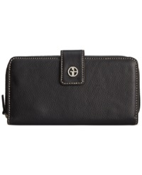 Giani Bernini Softy Leather All In One Wallet Black