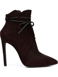 A.F.Vandevorst Pointed Toe Booties Pink And Purple