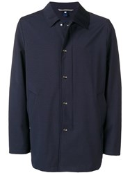 Canali Shirt Jacket Blue