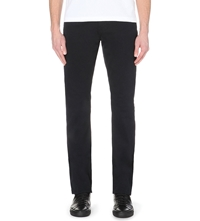 J Brand Slim Fit Stretch Cotton Trousers Carbon Blue