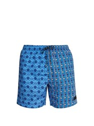 Stella Mccartney Nautical And Paisley Print Swim Shorts Blue
