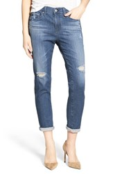 Ag Jeans Women's 'The Beau' High Rise Slouchy Skinny Dunes Destroyed