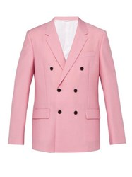 Calvin Klein 205W39nyc Double Breasted Mohair Blend Blazer Pink