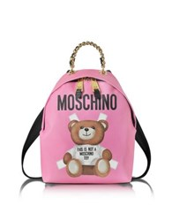 Moschino Teddy Bear Pink Saffiano Leather Backpack