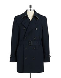 Hart Schaffner Marx Hill Trench Coat Blue