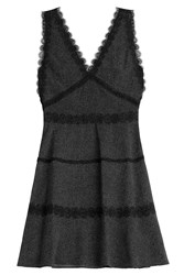 The Kooples Print Dress With Lace Black