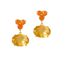 Alexandra Alberta Sunset Earrings Gold Yellow Orange