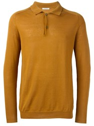 Boglioli Longsleeved Polo Shirt Brown