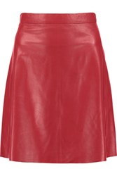 Muubaa Pannala Leather Mini Skirt Red