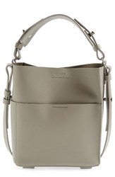 Allsaints Mini Echo Calfskin North South Tote Grey Light Cement Grey