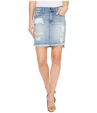 Joe's Jeans High Low Pencil Skirt In Tyrie Tyrie Women's Skirt Blue