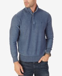 Nautica Men's Classic Fit Quarter Zip Sweater Navy